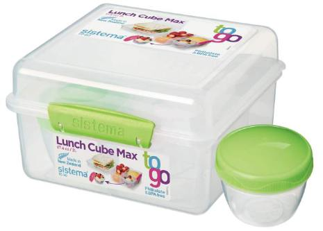 Lunch Cube Max To Go med yoghurtbehållare Sistema
